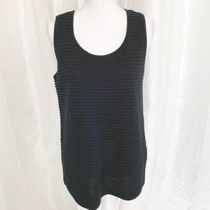 PERFECT for LAYERING  WOOL BLEND SWEATER SHELL LG